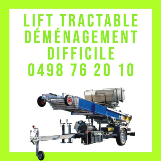 lift tractable Bruxelles